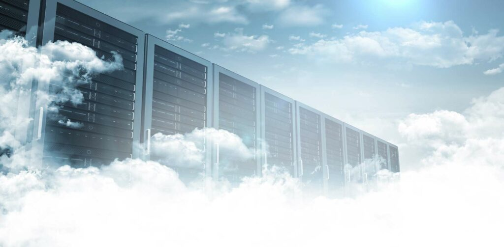 Picture of cloud servers