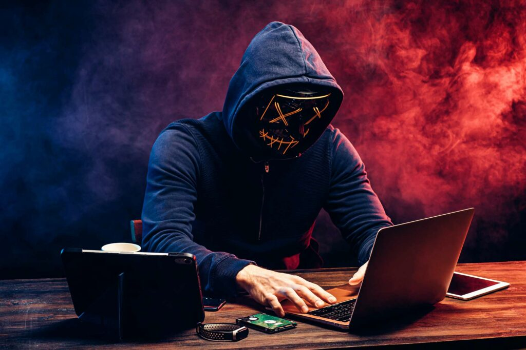 A hacker up to no good